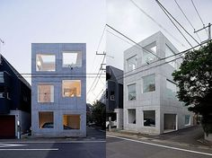 Minimalist House H in Tokyo by Sou Fujimoto Architects Love the idea of many Japanese architects - place your car in your house without an ugly garage!