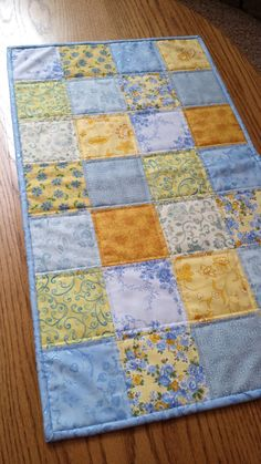Quilted Table Runner country table runner by WarmandCozyQuilts
