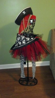Girl Pirate costume 18mths5t by ArtsyCraftyDesires on Etsy, $15.00