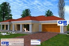 RDM5 House Plan No W1881 Flat Roof House Designs, 4 Bedroom House Designs, House Roof Design, 4 Bedroom House Plans, Bungalow House Design, Modern House Design, House Floor Plans, Single Storey House Plans, Tuscan House Plans
