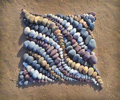 Stone - Jon Foreman Mosaic Rocks, Mosaic Stepping Stones, Pebble Mosaic, Stone Mosaic, Pebble Art, Mosaic Art, Rock Mosaic, Land Art, Rock Sculpture