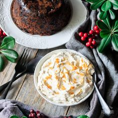 Brandy butter is the traditional accompaniment to plum pudding at Christmas. It takes just 5 ingredients and one bowl to make this! Fish Recipes, Baking Recipes, Sweet Recipes, Dessert Recipes, Christmas Lunch, Christmas Baking, Figgy Pudding, Mince Pies, Good Food