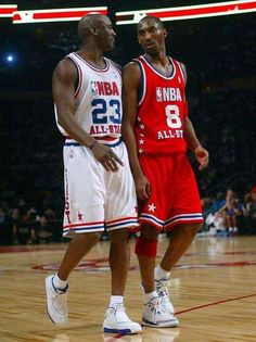 MJ and Kobe. Kobe Bryant Michael Jordan, Michael Jordan Basketball, Kobe Bryant 24, Basketball Is Life, Basketball Legends, Sports Basketball, Basketball Players, Basketball Shoes, Chicago Bulls