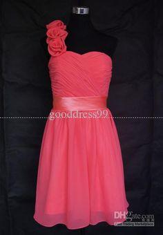 Wholesale Hot sale Simple Decent Bridesmaid Dresses Sheath/Column One shoulder Knee length Cocktail Dresses, $63.22-88.5/Piece | DHgate