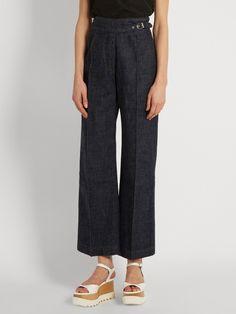 Rachel Comey Harlan high-rise wide-leg cotton trousers