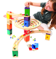 Quadrilla Wooden Marble Run Construction - The Roundabout - Quality Time Playing Together Wooden Safe Play - Smart Play for Smart Families Educational Toys For Kids, Kids Toys, Wooden Marble Run, Hape Toys, Wooden Toy Boxes, Level Up, Wood Toys, New Hobbies, Jurassic Park