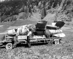 """Another view of the Bachem Ba 349 """"Natter"""", captured in Austria."""