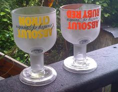 14 ounces upcycled glasses from absolute