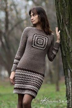 granny square crochet skirt - |