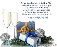 Share your New Year wishes with this wonderful card!