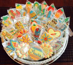 Mexican themed cookie platter by SweetCookieMoon | Cookie Connection