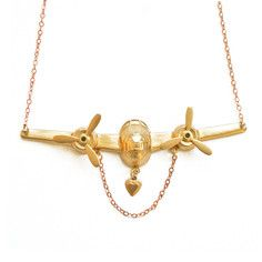 On The Wings Of Love Necklace, $40, now featured on Fab.