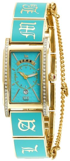 L.A.M.B.   <3 #turquoise #gold #watch