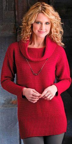 crochet pattern - cranberry sweater tunic