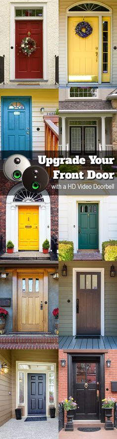 Improve your curb appeal no matter what your budget is. From a colorful front door to landscaping and even technology, there are a variety of options for your home. An HD video doorbell also adds sleek appeal and convenience for your life.