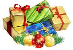 Christmas present group transparent background Christmas PNG image