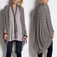 XX ADELIE cozy dolman cardigan - BLACK NOTHING BEATS THE EASE OF THROWING ON A COZY CARDIGAN. 2 TONE LIGHT KNIT WITH AN OPRN FRONT AND FEATURES DOLMAN 3/4 SLEEVE. Available in black & burgundy. NO TRADE Jackets & Coats