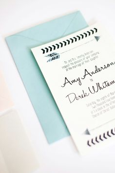 Chic arrow inspired wedding invitations. #stationery #invitations #arrow #chic #wedding Shop: Pink Champagne Paper ---> http://66.147.244.213/~pinkcha1/