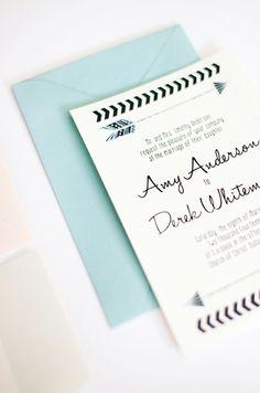 Chic arrow inspired wedding invitations. #stationery #invitations #arrow #chic #wedding Shop: Pink Champagne Paper ---> http://66.147.244.213/~pinkcha1/
