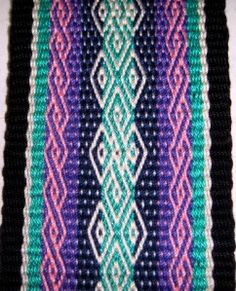 bobbies band. Pebble weavie, a complementary weaving structure from backstrapweaving.wordpress.com,