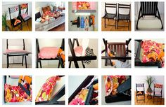 Upholstered folding chairs--a cute and cheap idea for extra seating. I'm doing this right now! Hope it looks as good.