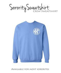 Kappa Kappa Gamma Crew Sweatshirt with monogram design . $29.98