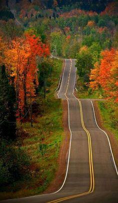 Autumn Highway, Ontario, Wisconsin
