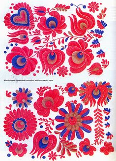 Folk Embroidery Patterns Hello all, Today I will return to Hungary, to talk about one of the most famous costume and embroidery traditions in that country, t. Hungarian Embroidery, Folk Embroidery, Mexican Embroidery, Floral Embroidery, Embroidery Stitches, Embroidery Patterns, Machine Embroidery, Antique Quilts, Textile Artists