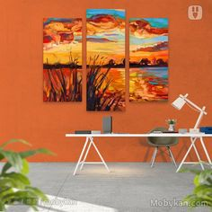 nature in painted color Wall art
