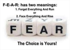 FEAR should only be the second.