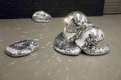 Shiny, shiny...melty disco balls from Rotterdam-based art collective Rotganzen.
