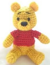 how to: crocheted Winnie the Pooh