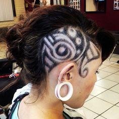 Amazing Tribal hair - Nails, Toenails, Hair, Tattoo art, Trends!