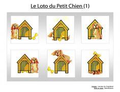 Loto du petit chien - Un jeu pour utiliser le vocabulaire topologique