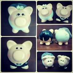 Novios Piggy Bank, Diy And Crafts, Christian, Bride, Wedding, Craft, Dresses, Happily Ever After, Beautiful Things