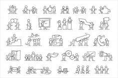 Cartoon-Teamwork-Icons-Set.jpg (600×399)