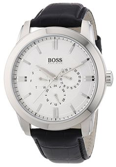HUGO BOSS Men's Watches 1512892 Montres Hugo Boss, Boss Black, Hugo Boss Man, Bracelet Cuir, Watches For Men, Men's Watches, Chronograph, Stuff To Buy, Accessories
