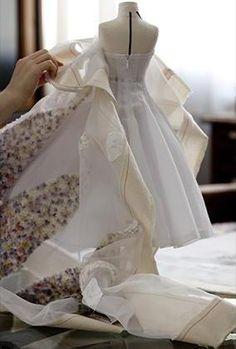 Mini Dior Dress creating the mini gown!