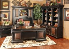 Hemispheres Furniture Store Telluride Executive Home Office By Hooker at Home Furniture! Home Office Space, Home Office Furniture, Hooker Furniture, Cool Furniture, Furniture Design, Furniture Stores, Furniture Websites, Bedroom Furniture, Home Design