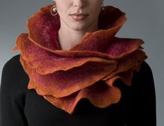 """Sunset Rose Scarf""  Wool and silk scarf    Created by Jenne Giles"