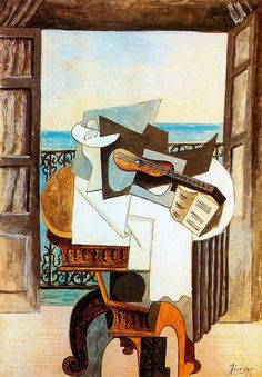 TICMUSart: Table in front of window - Pablo Picasso (1919) (I.M.)