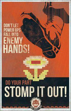 「クッパとともに戦おう!」もしマリオの世界にプロパガンダポスターがあったら - DNA
