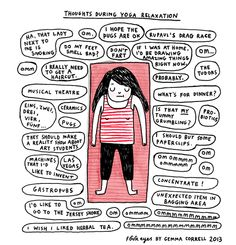 Yoga cartoon strip Cathy