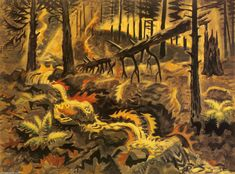 CHARLES BURCHFIELD Autumn Leaves at Play