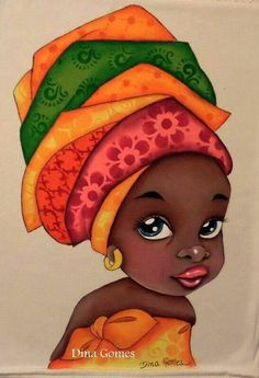 beautiful handpainted african girl