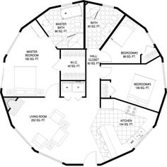 Geodesic Dome Homes - The Sustainable Dome House of the Future - Biodome Glass Geodesic dome homes Luxury passive geodesic dome house Futuristic Dome House Round House Plans, Dream House Plans, Small House Plans, House Floor Plans, Cob House Plans, Monolithic Dome Homes, Geodesic Dome Homes, Casa Octagonal, Natur House