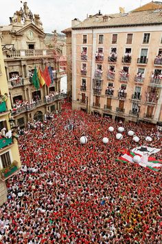 Party time in Pamplona. July 6 is chupinazo day...