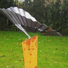 Stainless steel #abstract-sculpture - Wings