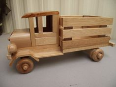 Reclaimed STURDY WOOD Truck Eco-friendly Wooden Toy Car for Children Organic Natural Unpainted No metal by Aroswoodcrafts