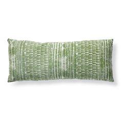 Yoruba Shimmer Gingko Boxed Outdoor Lumbar Pillow